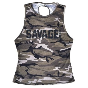 Crossback Tank Top Savage Barbell Camo