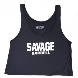 Crop Top Savage Barbell Suicide Squad Dark Grey