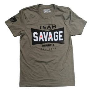 T-shirt Savage Barbell TEAM SAVAGE Green