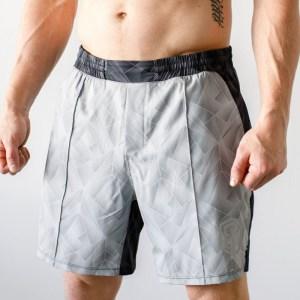 Born Primitive Training Shorts Geometric Grey