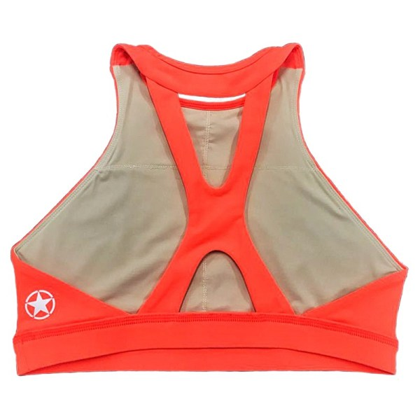Soutien Desportivo High Neck Orange Crush