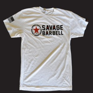 T-shirt Savage Barbell Classic White
