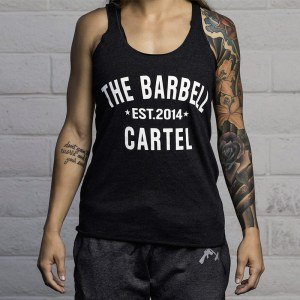 The Barbell Cartel Classic Logo Racerback Charcoal