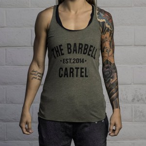 The Barbell Cartel Classic Logo Racerback OD Green