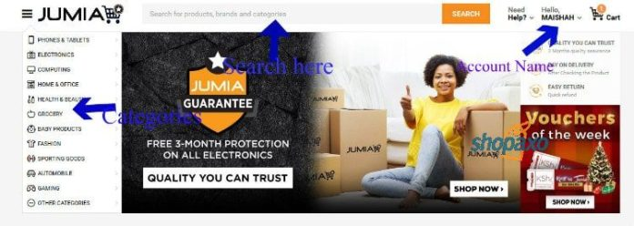 how to place an order on Jumia 2