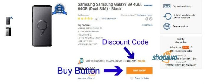 how to place an order on Jumia 3