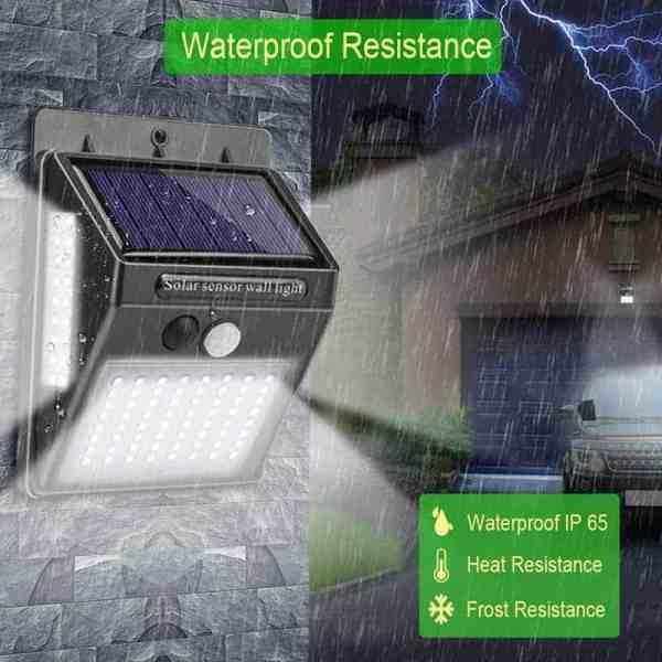 מנורת לד סולארית עם חיישן תנועה
