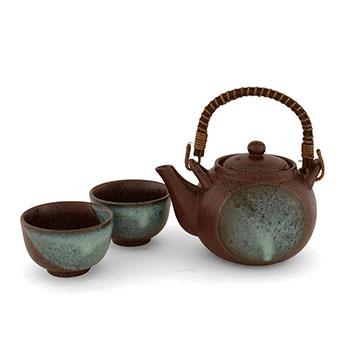 Aqua Moon Tea Set. Japanese Tea Sets