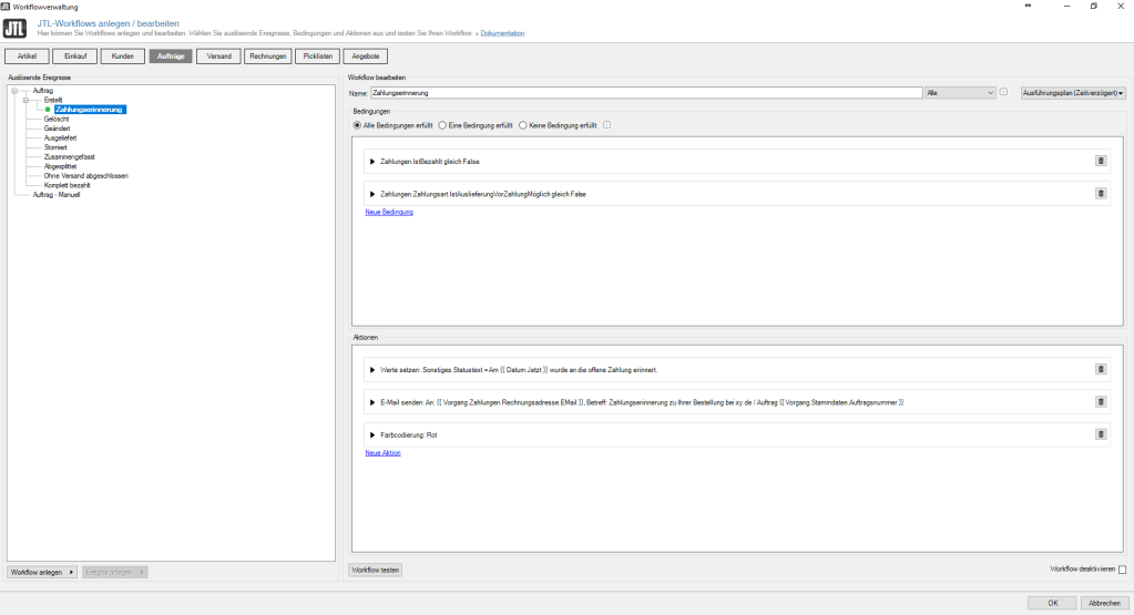 Jtl Wawi Automatische Zahlungserinnerung Per E Mail Versenden