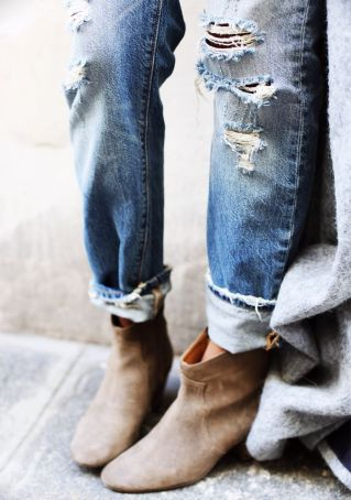 shoes and boyfriend jeans