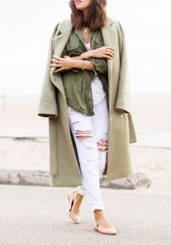street style olive green neutral