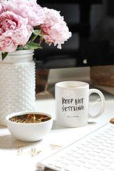 tea coffee in working space