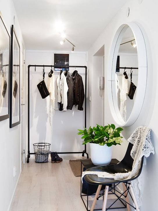 white room with mirror