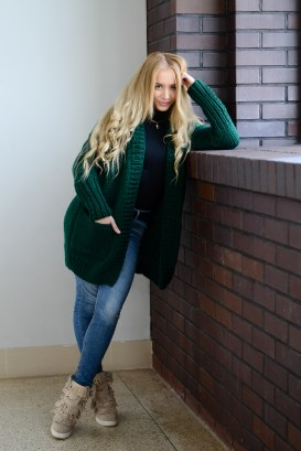 chunky cardigan with pockets