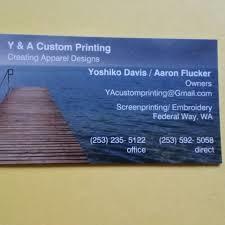 Y&A Custom printing