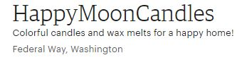 Happy Moon Candles