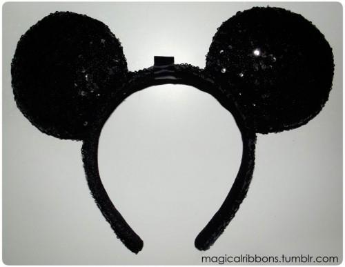 Custom Minnie Ears Base - Black