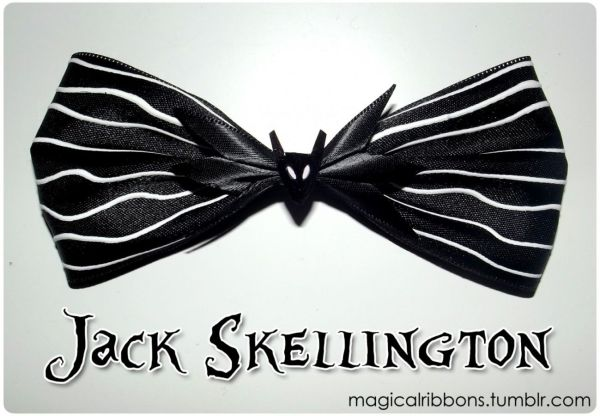 Jack Skellington Bow