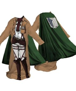 Women's snuggler blanket with cape from Attack on Titan