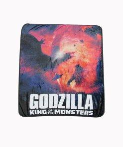 Godzilla monsters fleece blanket