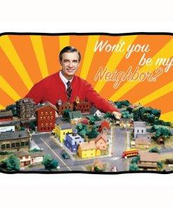 Mr Rogers Neighborhood fleece blanket