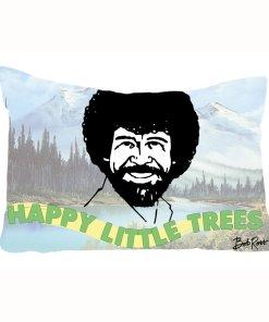 Bob Ross Happy Little Trees pillow