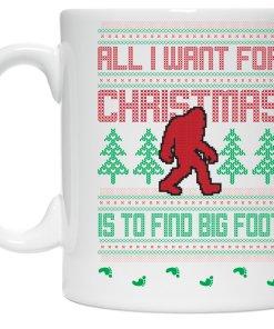Big Foot Christmas coffee mug