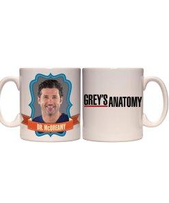 McDreamy from Grey's Anatomy on a coffee mug