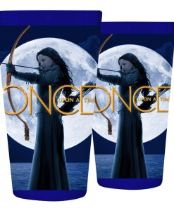 Once Upon A Time dark blue pint glass