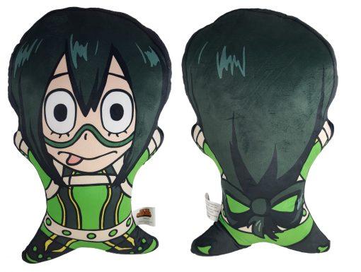 Pillow shaped like Tsuyu Asui from My Hero Academia