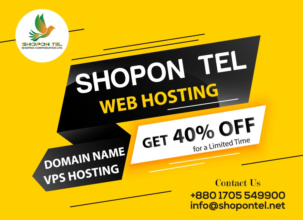 #ShoponTelis providing ##WebHosting, ##Domainand ##Designing…