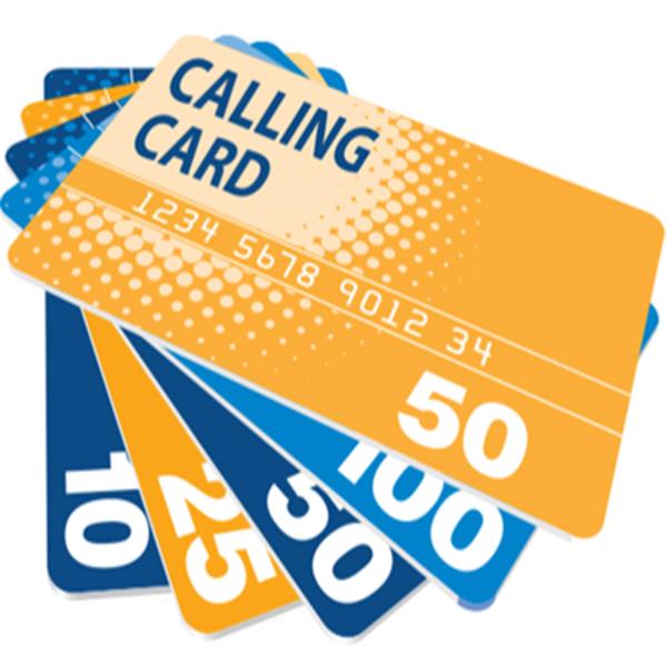 International calling card printing