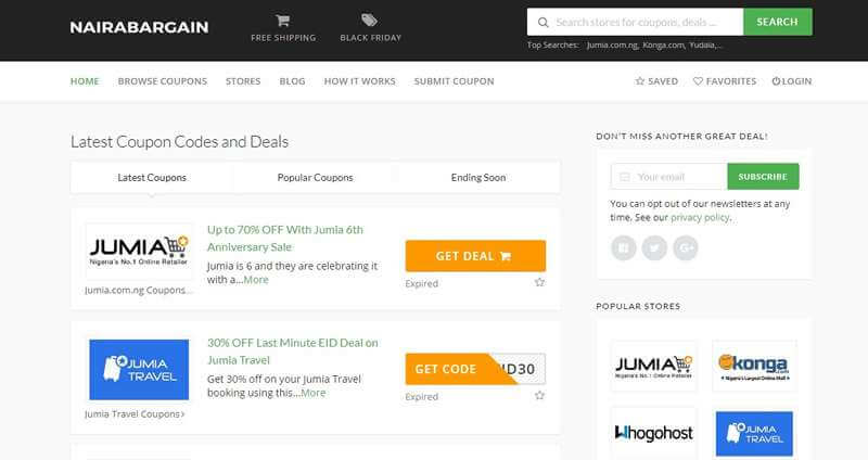 Top 6 Coupon And Deal Sites For Extreme Savings In Nigeria Shopping Guide