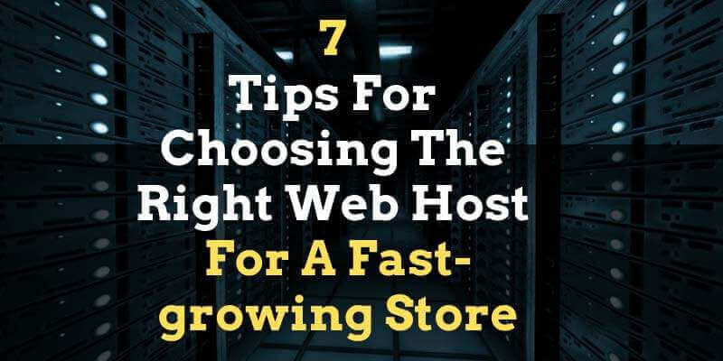You are currently viewing 7 Tips For Choosing The Right Web Host For A Fast-growing Store