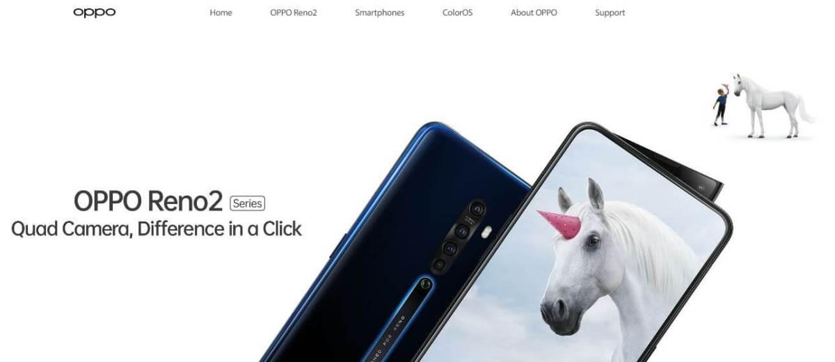 Oppo Mobile Website