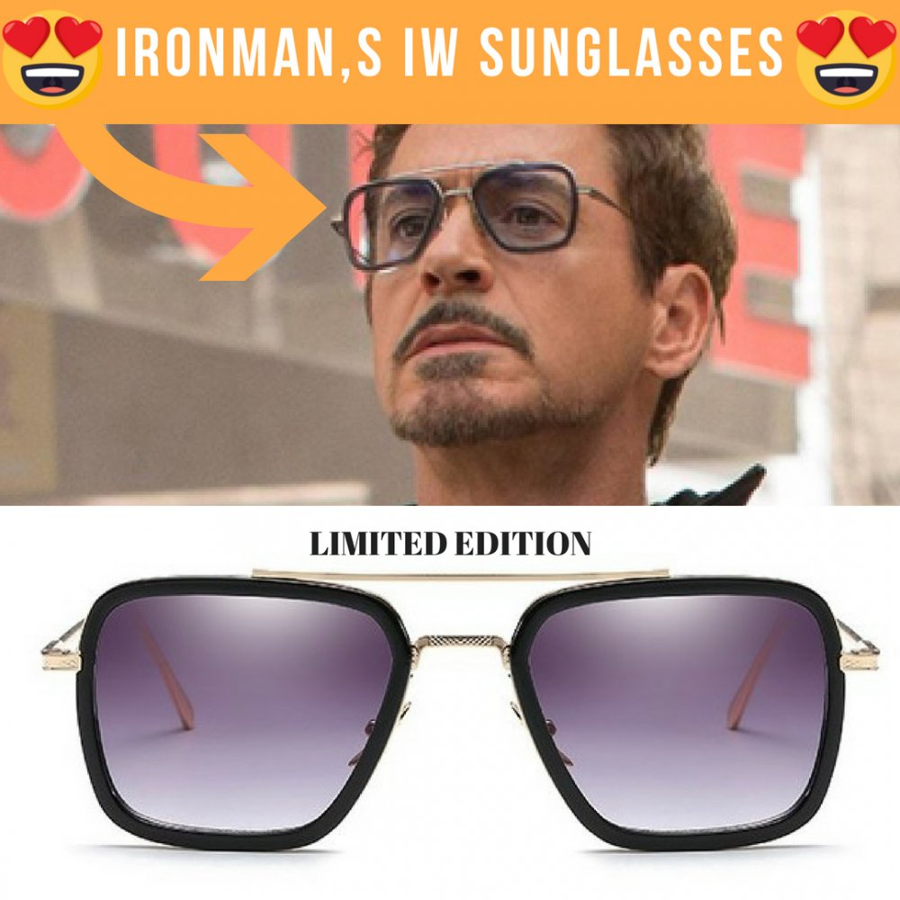 3f7d2719f990 Made from premium material , Ironman's sunglasses will brighten up anyone  who wear this.