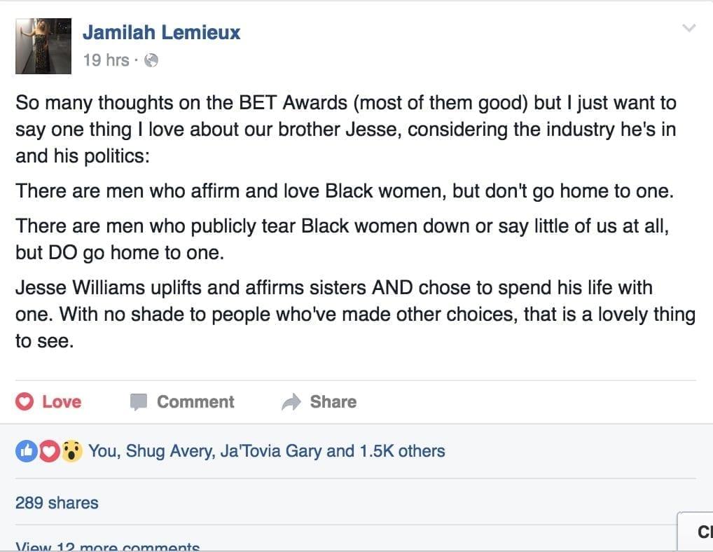 What Jamilah said...