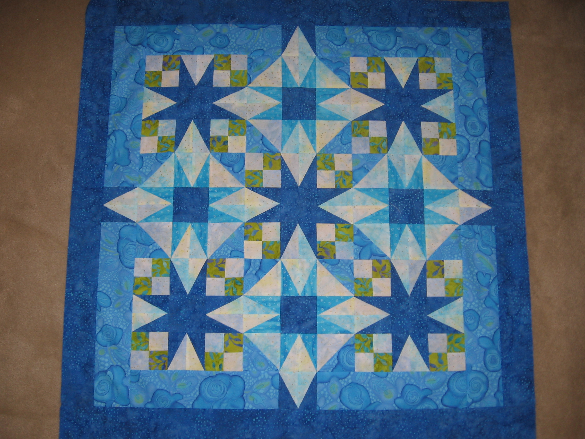 Baby quilt for my niece shoppe girls for Galaxy quilt fabric