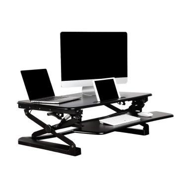 81821 primecables cab mt101 all monitor desk mounts sit standing height adjustable desk ergo riser adr for monitor 26 35 wide black primecables