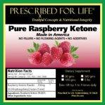 Raspberry Ketone -PRESCRIBED FOR LIFE
