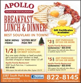 Apollo Lackawanna Ny Restaurant