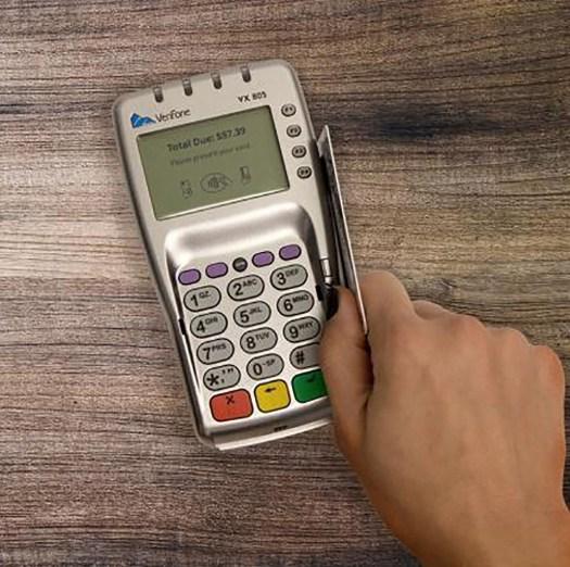 Verifone VX 805_with_swipe_card