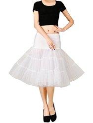Pinkmerry® Womens 50s Vintage 26″Length Tutu Petticoats Crinoline Half Slips