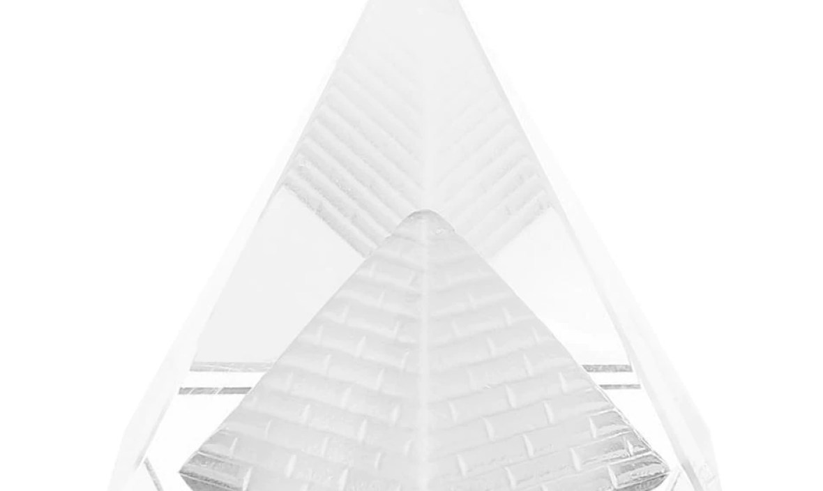 Ancient Egypt Pyramid Quartz Stone Carving Figurines 40mm Crystal Pyramid Figurine Furnishing Article Home Decoration Crafts