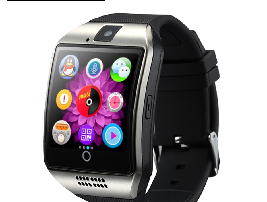 Smart Watches Smart Watch Q18 With Camera SMS Support TF Card Smart Watch Android Phone SmartWatch Men Bluetooth For Ios iphone
