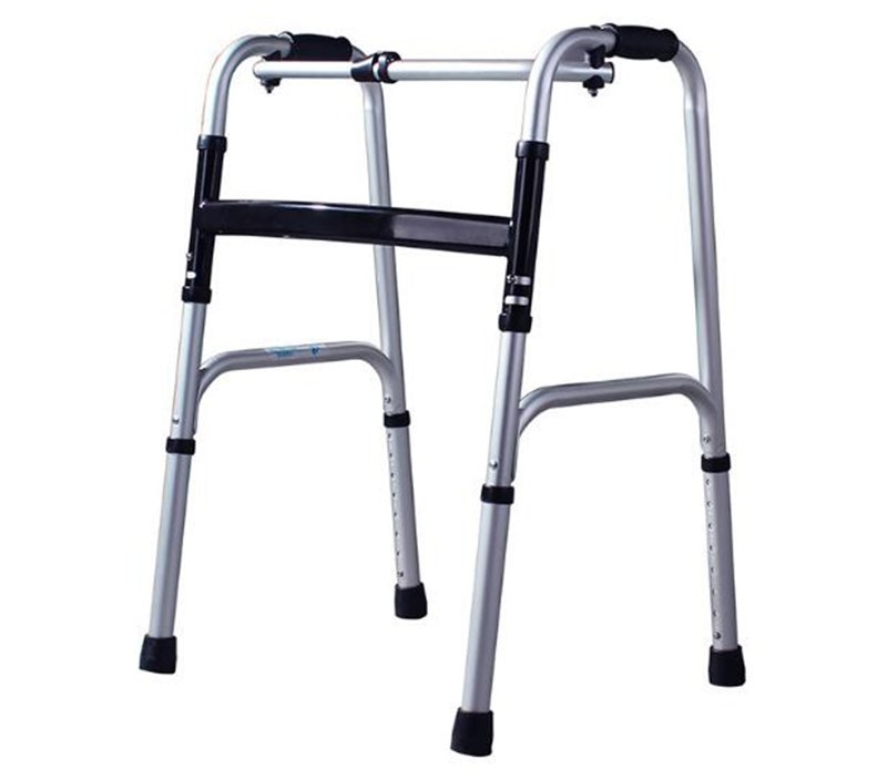 Old man portable aid step implementaluminum alloy medical instrument crutches help line for the disabled, four feet walking sti