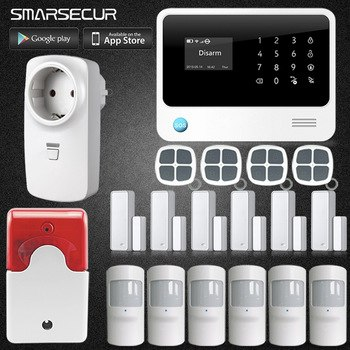 Home Design G90B Plus WiFi 2G 3G GSM Alarm System Sensor kit English Spansih Russian Smart Home WIFI GSM Burglar Alarm