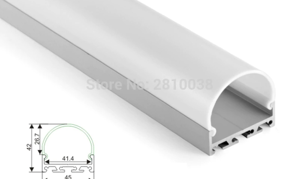 10 X 1M Sets/Lot Home design aluminum profile led strip light and alu led extrusion for ceiling or recessed wall lights