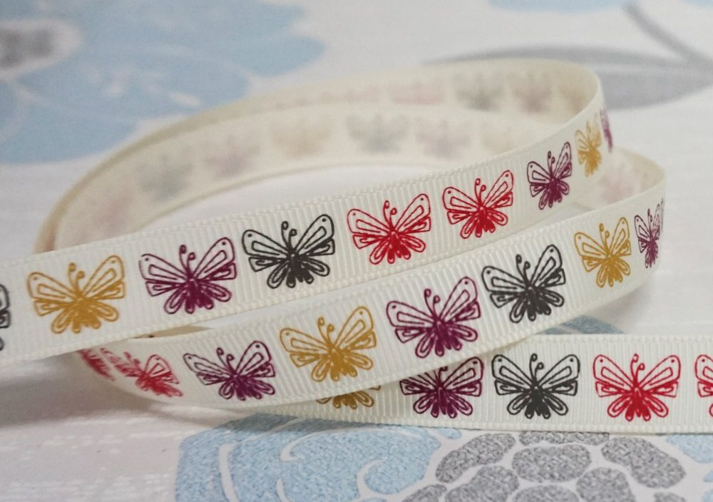 Sales Promotion 12 13mm For Decorate Colourful Printed Grosgrain Ribbon OEMCustomized DIY Materials Baby Crafts 100Yards