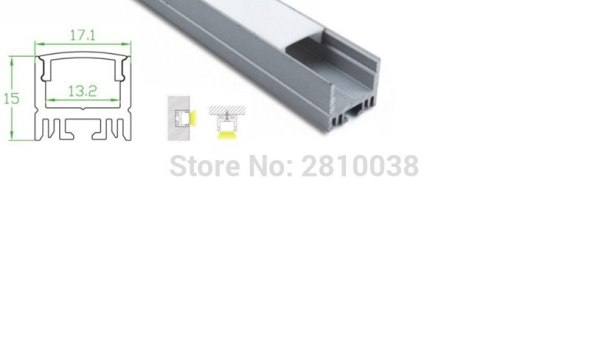 12 X 1M SetsLot Home design aluminium led profile and 17mm wide U channel led extrusion for wall or ceiling lights